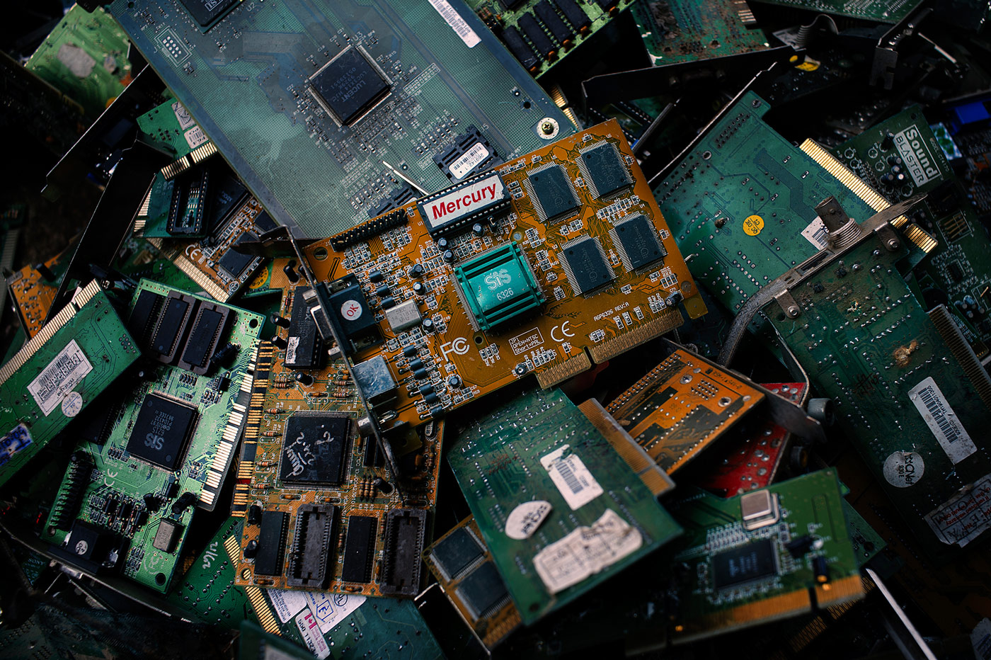 E Waste Recycling Machinery Circuit Board Scrap Computer Image Not Available